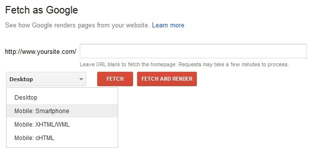 fetch as google options