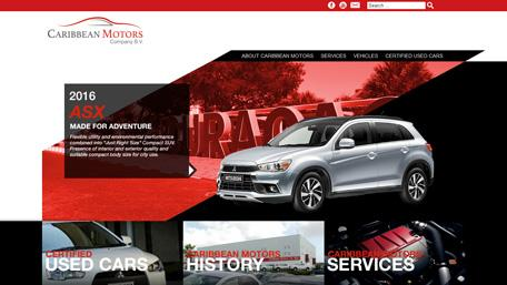 CCloud Media latest project Caribbean Motors website